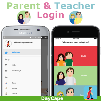Yes! You can now login as a teacher, parent or child and plan the day directly in the app.